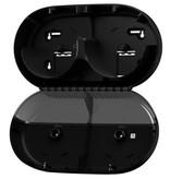 Tork Tork SmartOne® Mini Twin Toiletpapier Dispenser Kunststof Elevation Zwart T9