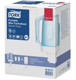 Tork Tork Starterpack Draagbare Mini Centerfeed Poetspapier Dispenser Kunststof Wit/Turquoise M1