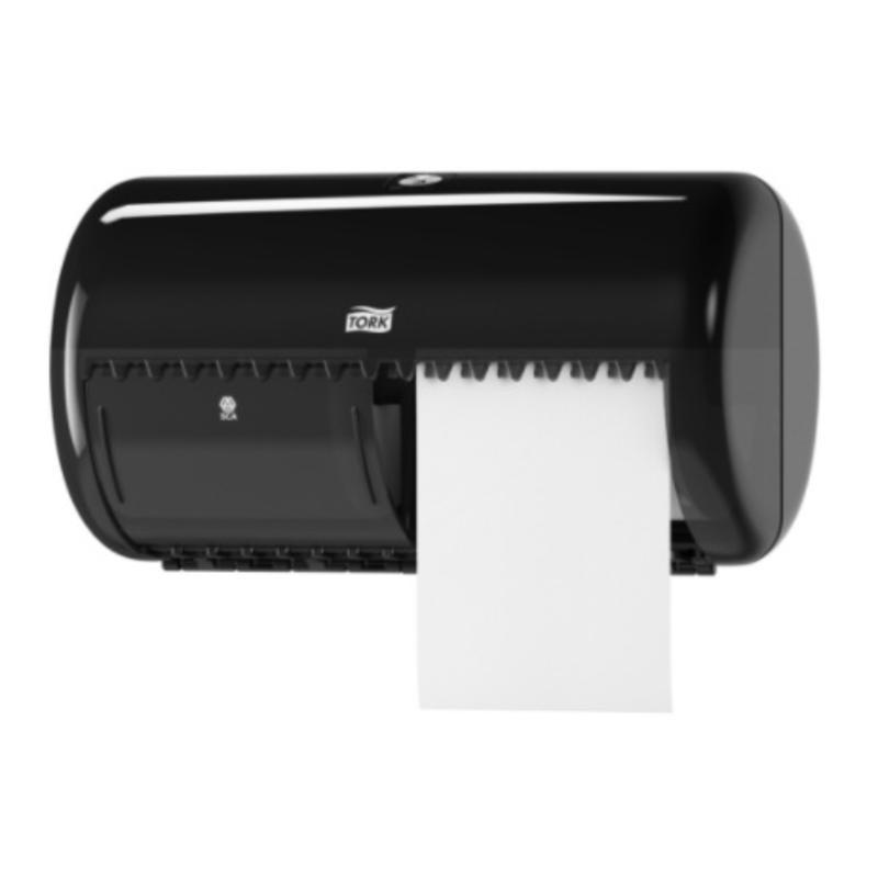 Tork Traditioneel Toiletpapier Dispenser Kunststof Zwart T4