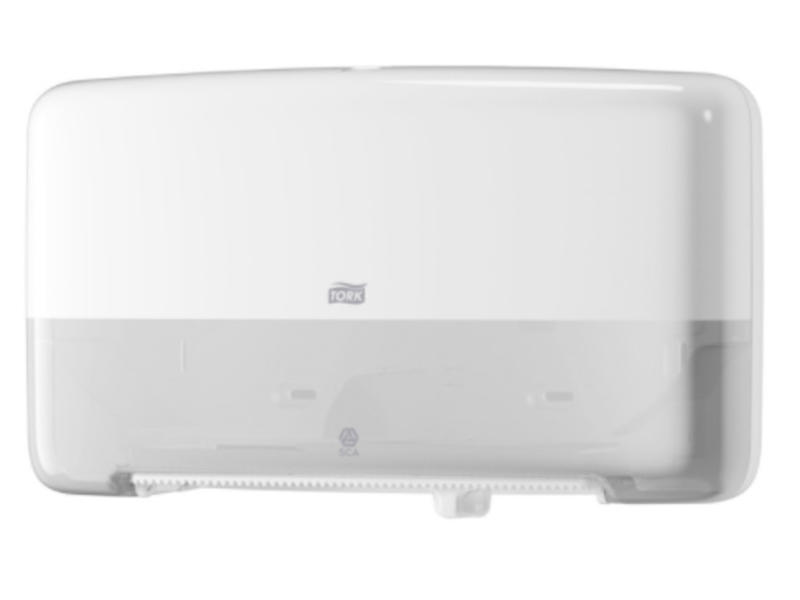 Tork Tork Twin Mini Jumbo Toiletpapier Dispenser Kunststof Wit T2