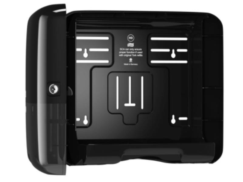Tork Tork Z-vouw/C-vouw Mini Handdoek Dispenser Kunststof Zwart H3