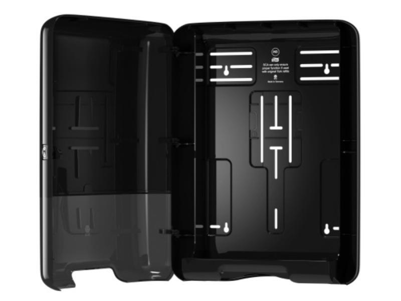 Tork Tork Z-vouw/C-vouw Handdoek Dispenser Kunststof Zwart H3