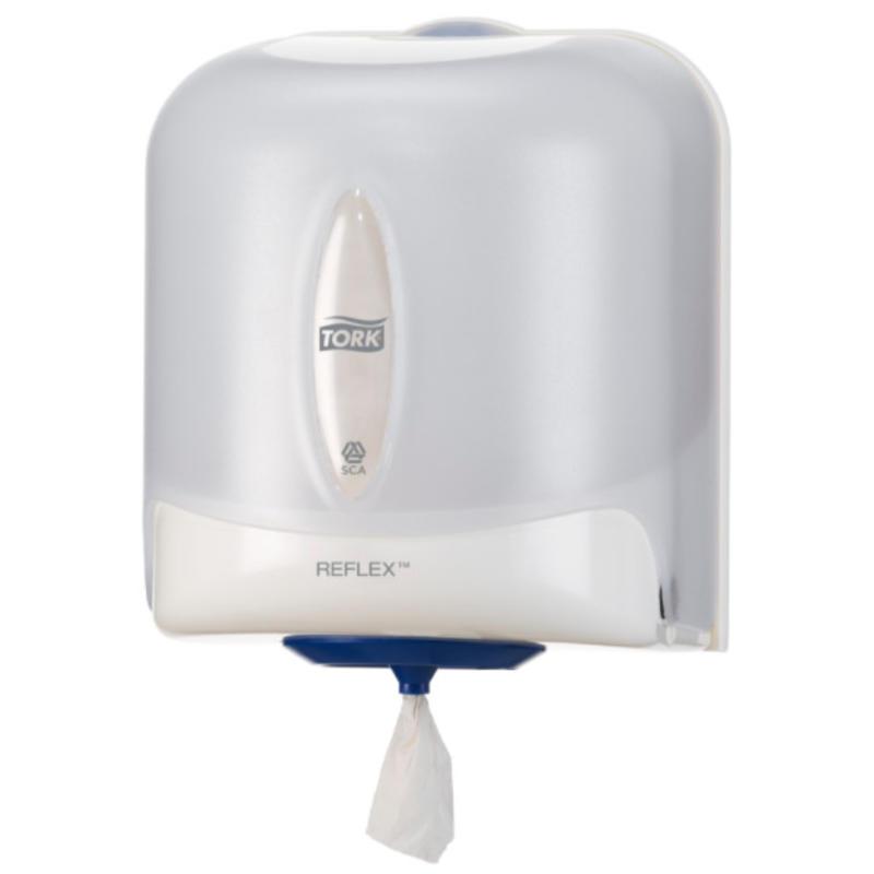 Tork Reflex® Centerfeed Poetspapier Dispenser Kunststof Wit M4