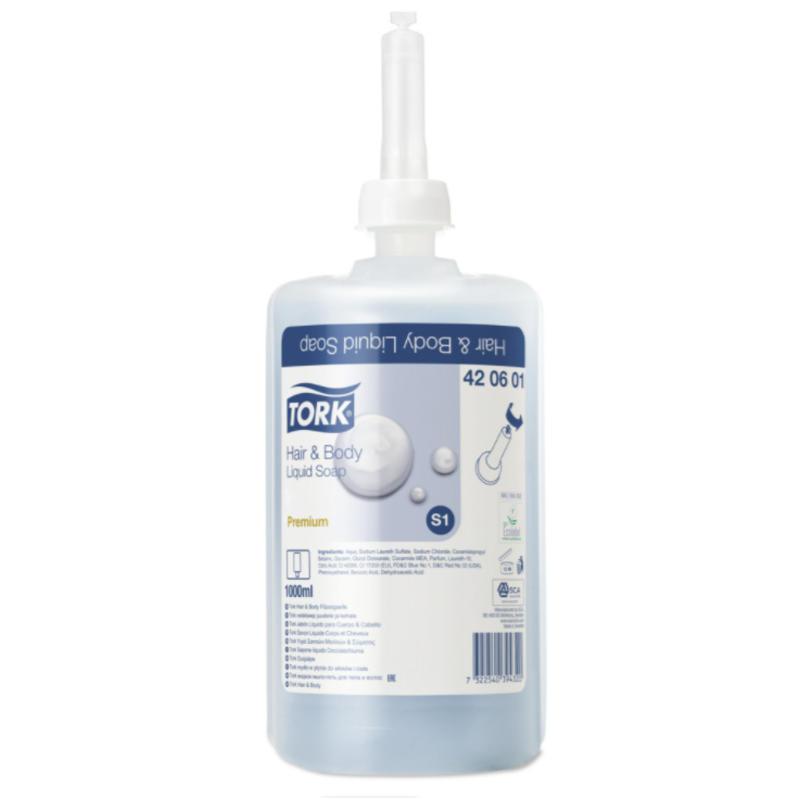 6x Tork Hair & Body Vloeibare Zeep S1 Premium