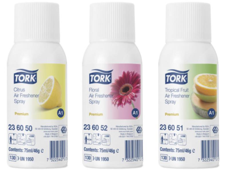 Tork 12x Tork Luchtverfrisser Spray 3 Parfums A1 Premium
