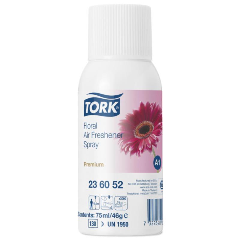 12x Tork Luchtverfrisser Spray met Bloemengeur A1 Premium