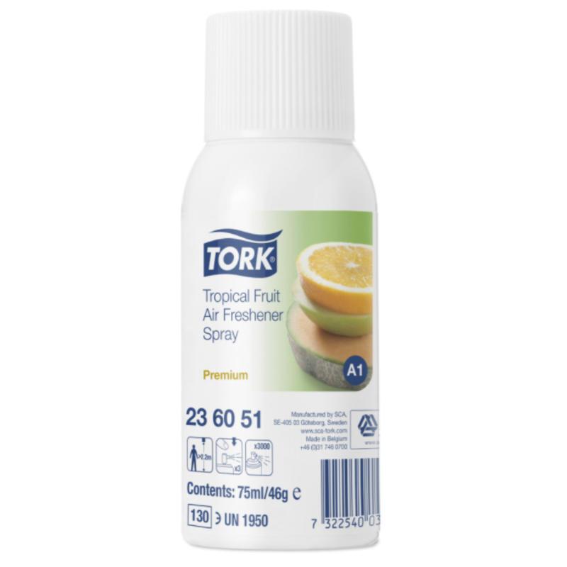 12x Tork Luchtverfrisser Spray met Tropical Fruitgeur A1 Premium