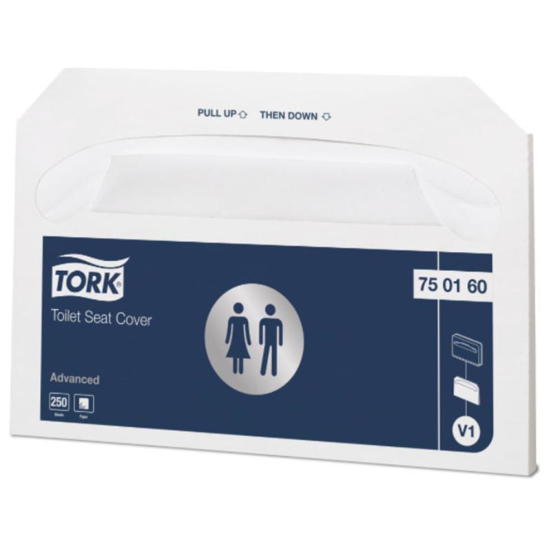20x 250 Tork Toiletbril Afdekhoes Wit V1 Advanced