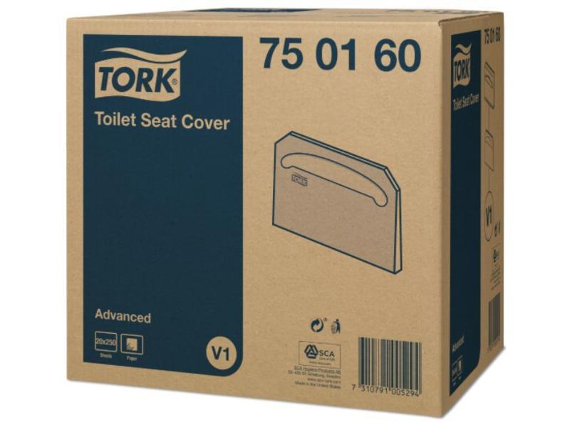 Tork 20x 250 Tork Toiletbril Afdekhoes Wit V1 Advanced