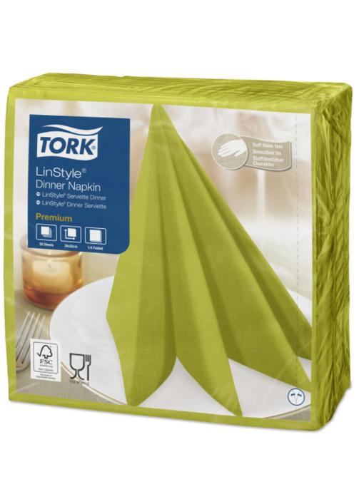Tork LinStyle® servet 39x39cm 1/4-vouw pistachio 12x50