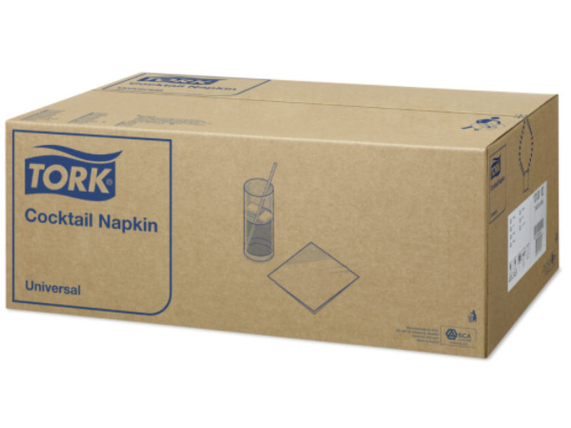 Tork Tork tissue servet 24x24cm 1-laags 1/4-vouw wit 20x200