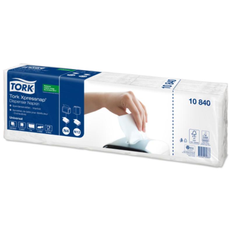 Tork Xpressnap® dispenserservet 21,6x33cm 1-laags 1/4-vouw wit 5x225x8