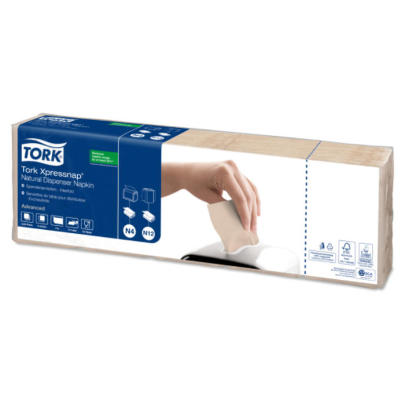 Tork Xpressnap® dispenserservet 21,6x33cm 1-laags 1/4-vouw Natural environmental print