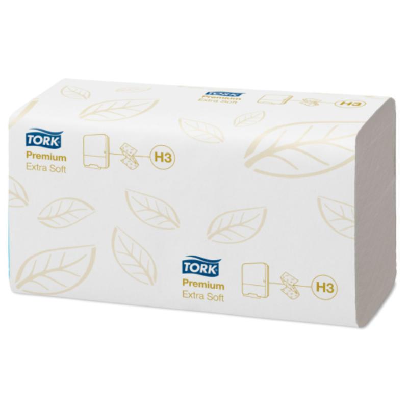 Tork Extra Zachte Z-vouw Handdoek 2-laags Wit H3 Premium