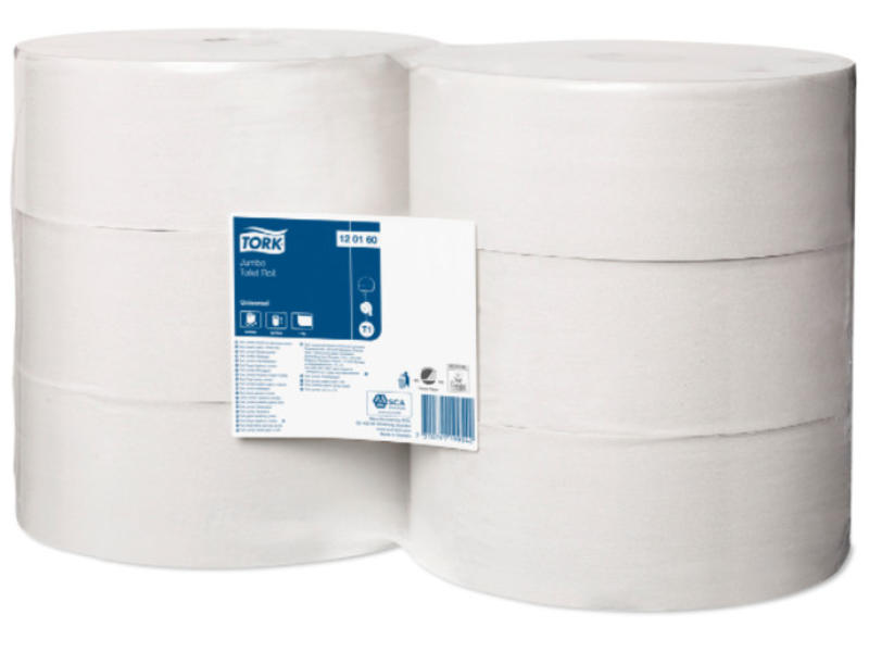 Tork Tork Jumbo Toiletpapier 1-laags Wit T1 Universal