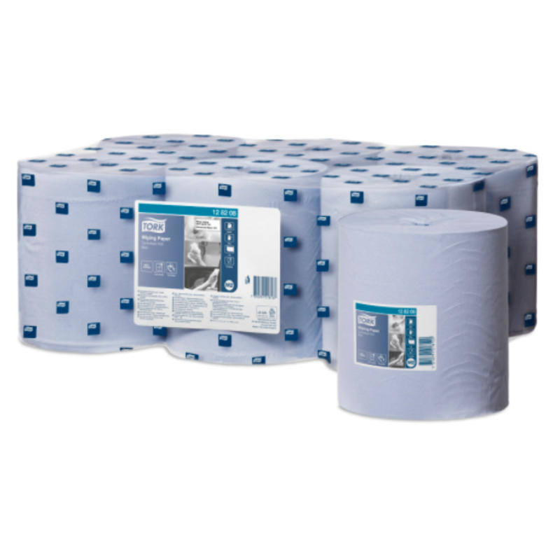 Tork Wiping Centerfeed Poetspapier 1-laags blauw M2
