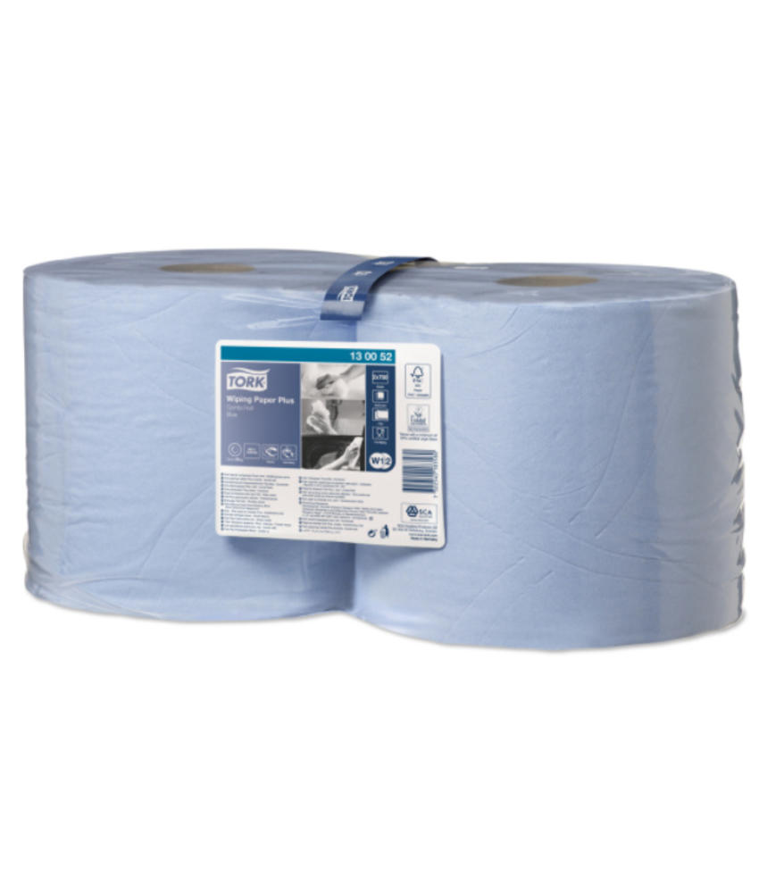Tork Wiping Plus Combi Rol Poetspapier 2-laags Blauw W1/W2
