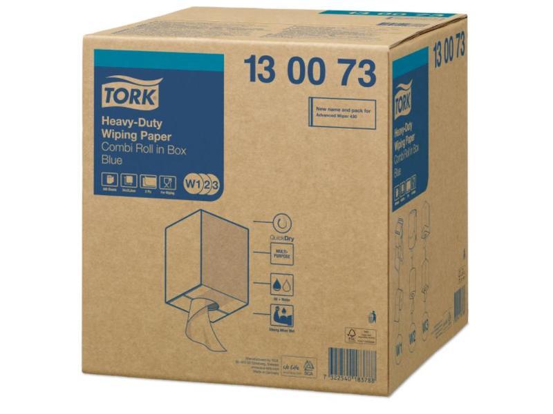 Tork Tork Heavy-Duty Combi Rol Poetspapier 2-laags Blauw W1/W2/W3
