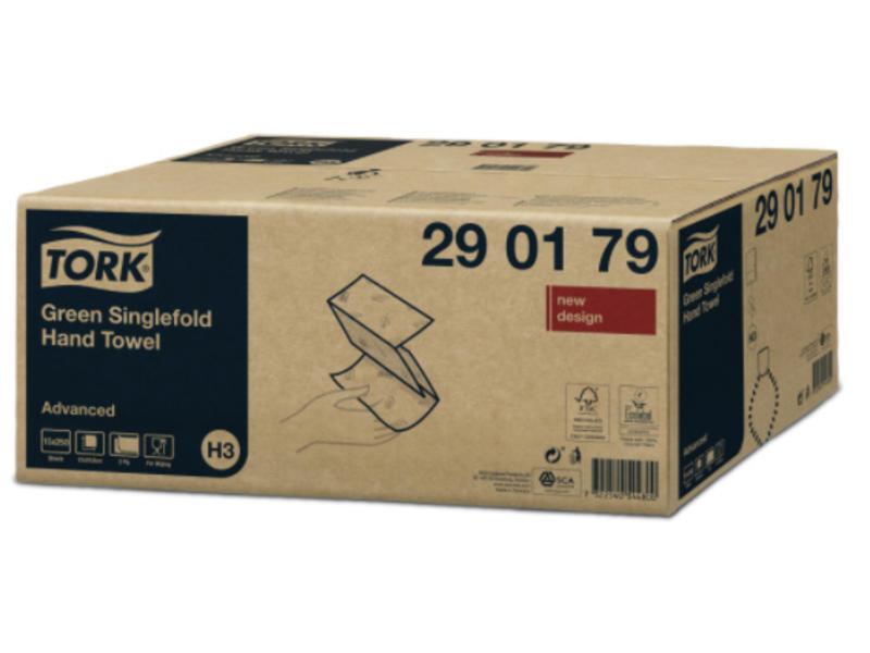 Tork Tork Z-vouw Handdoek 2-laags Groen H3 Advanced