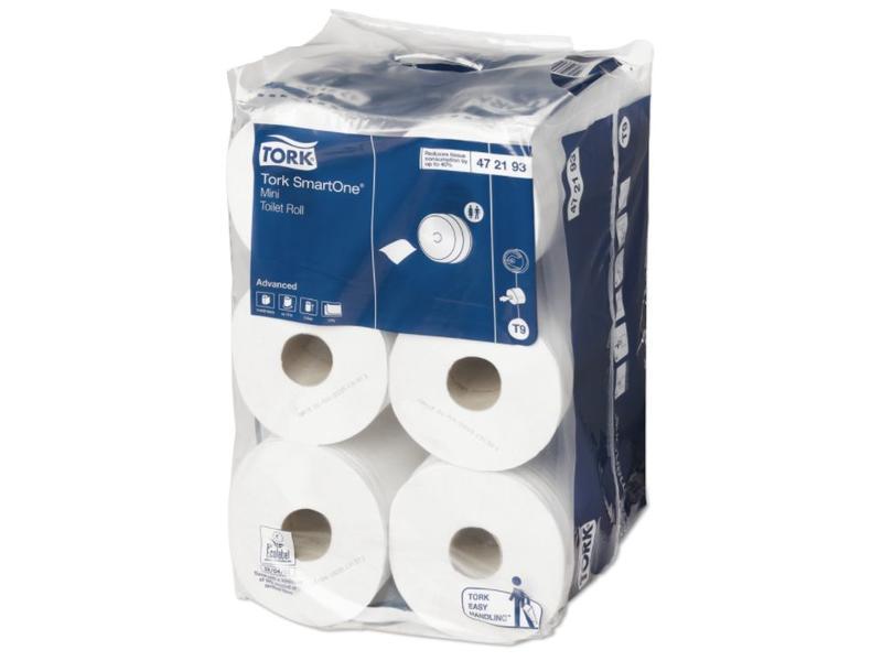 Tork Tork SmartOne® Mini Toiletpapier 2-laags Wit T9 Advanced