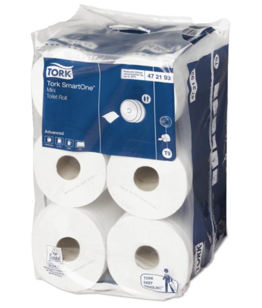 Tork SmartOne® Mini Toiletpapier 2-laags Wit T9 Advanced