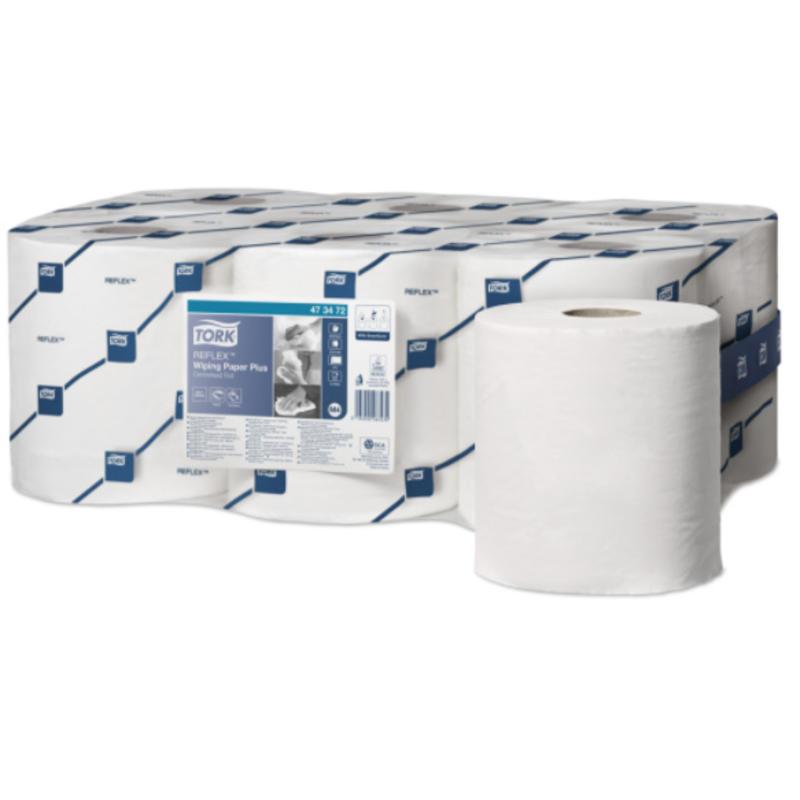 Tork Reflex Wiping Paper Plus Poetspapier BWit M4