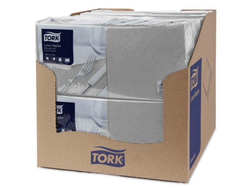 Tork Tork tissue servet 33x33cm 2-laags 1/4-vouw grijs 10x200