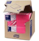 Tork Tork tissue servet 33x33cm 2-laags 1/4-vouw fuchsia 10x200