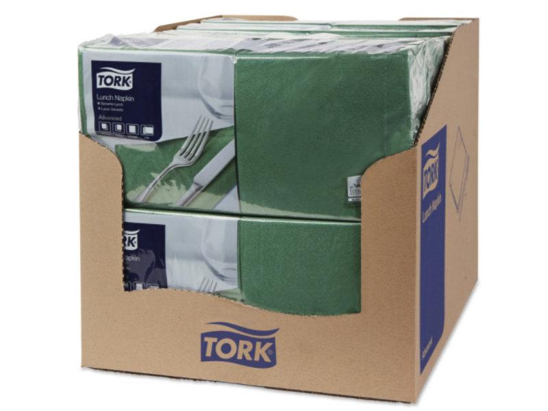 Tork Tork tissue servet 33x33cm 2-laags 1/4-vouw mountain pine green 10x200