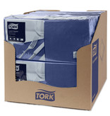 Tork Tork tissue servet 33x33cm 2-laags 1/4-vouw midnight blue 10x200