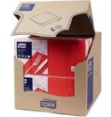 Tork Tork tissue servet 33x33cm 2-laags 1/8-vouw rood 10x200