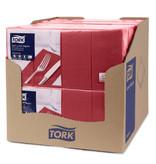 Tork Tork tissue servet 33x33cm 3-laags 1/8-vouw burgundy 10x150