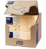 Tork Tork tissue servet 33x33cm 2-laags 1/8-vouw cream 10x200
