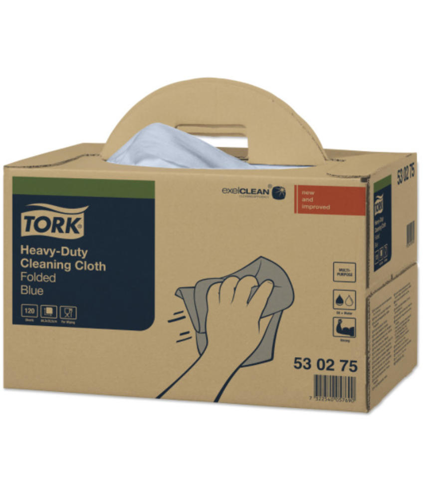 Tork Heavy-Duty Reinigingsdoek XL Handy Box Blauw W7