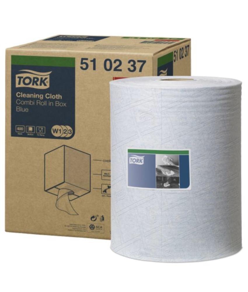 Tork Cleaning Combi Rol Reinigingsdoek Blauw W1/W2/W3