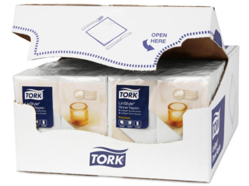 Tork Tork LinStyle® servet 39x39cm 1/8-vouw wit 12x50