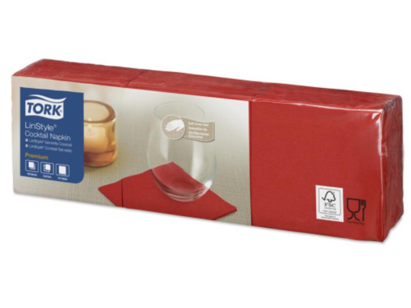 Tork Tork LinStyle® servet 23x23cm 1/4-vouw rood 10x150