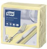 Tork Tork tissue servet 39x39cm 3-laags 1/4-vouw champagne 12x100