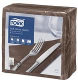 Tork Tork tissue servet 39x39cm 3-laags 1/4-vouw cocoa 12x100
