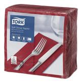 Tork Tork tissue servet 39x39cm 3-laags 1/8-vouw burgundy 12x100