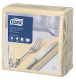 Tork Tork tissue servet 39x39cm 2-laags 1/4-vouw cream 12x150