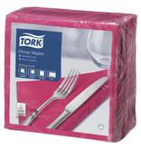 Tork Tork tissue servet 39x39cm 2-laags 1/4-vouw fuchsia 12x150