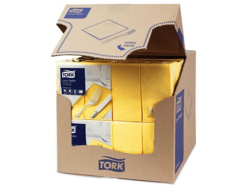 Tork Tork tissue servet 33x33cm 2-laags 1/8-vouw passion yellow 10x200