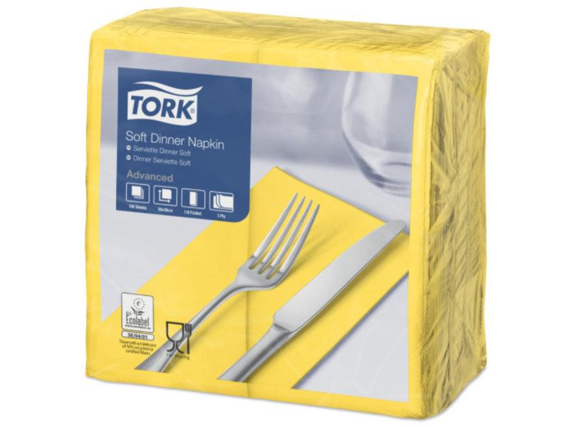 Tork Tork tissue servet 39x39cm 3-laags 1/8-vouw passion yellow 12x100