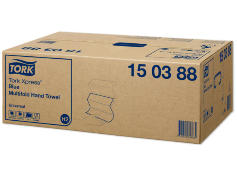 Tork Tork Xpress® Zachte Multifold Handdoek 2-laags Blauw H2 Premium