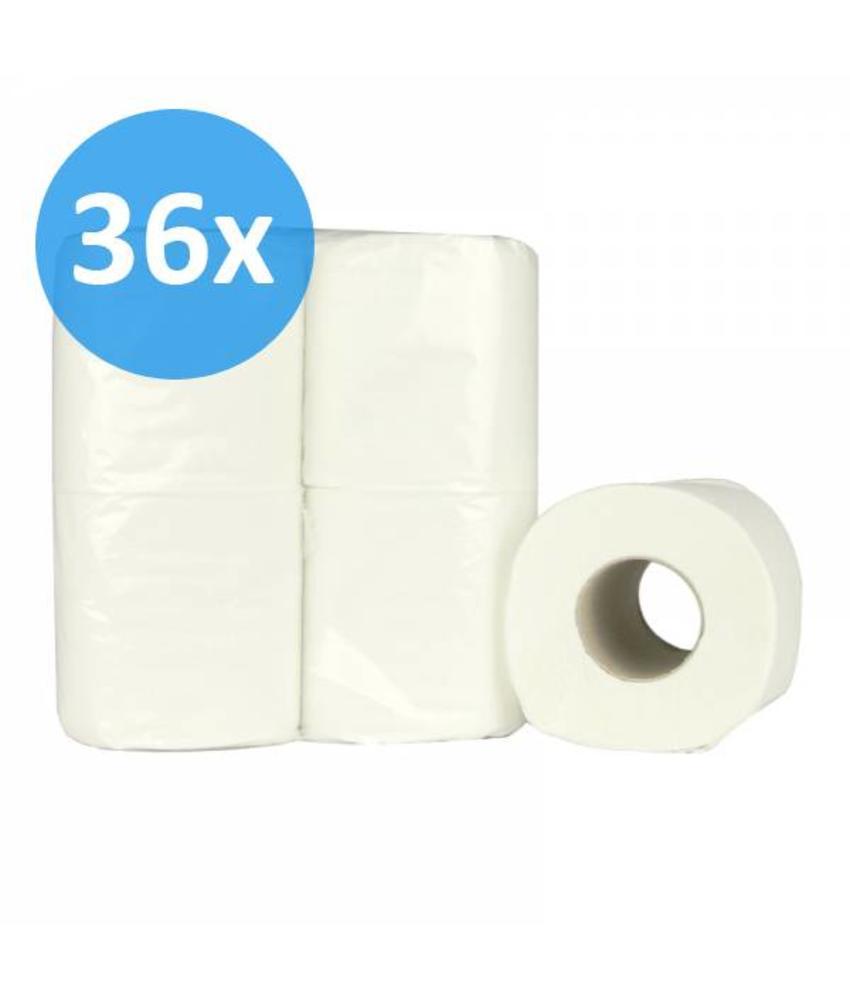 Toiletpapier traditioneel 2-laags, recycled, 200 vel