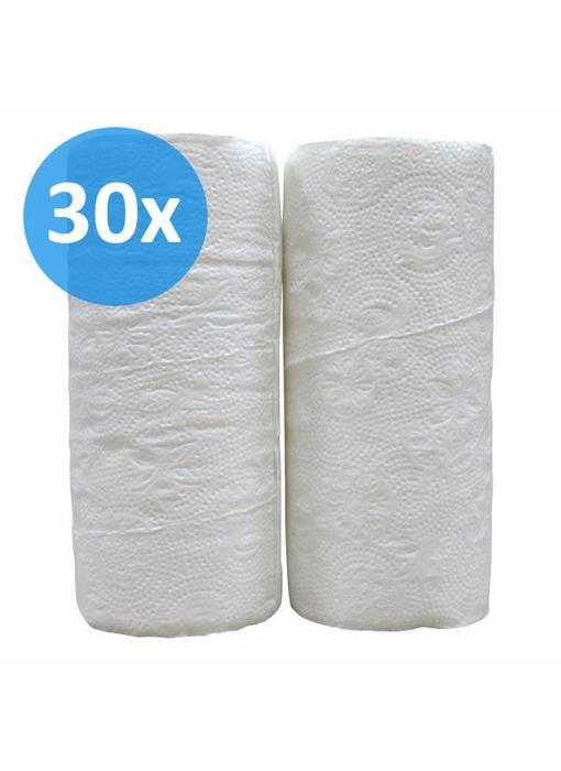 Keukenrollen, 2-laags, cellulose  wit, 32 rollen x 50 vel