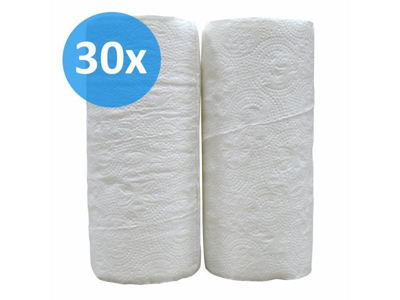 Eigen merk PALLET Keukenrollen, 2-laags, cellulose  wit, 32 rollen x 50 vel
