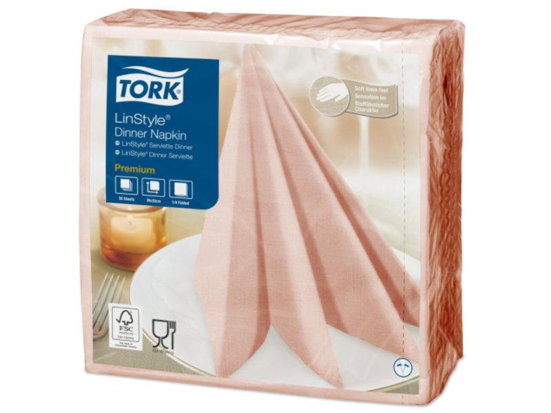 Tork Tork LinStyle® servet 39x39cm 1/4-vouw coral 12x50