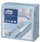 Tork Tork tissue servet 39x39cm 3-laags 1/4-vouw Lichtblauw 12x100